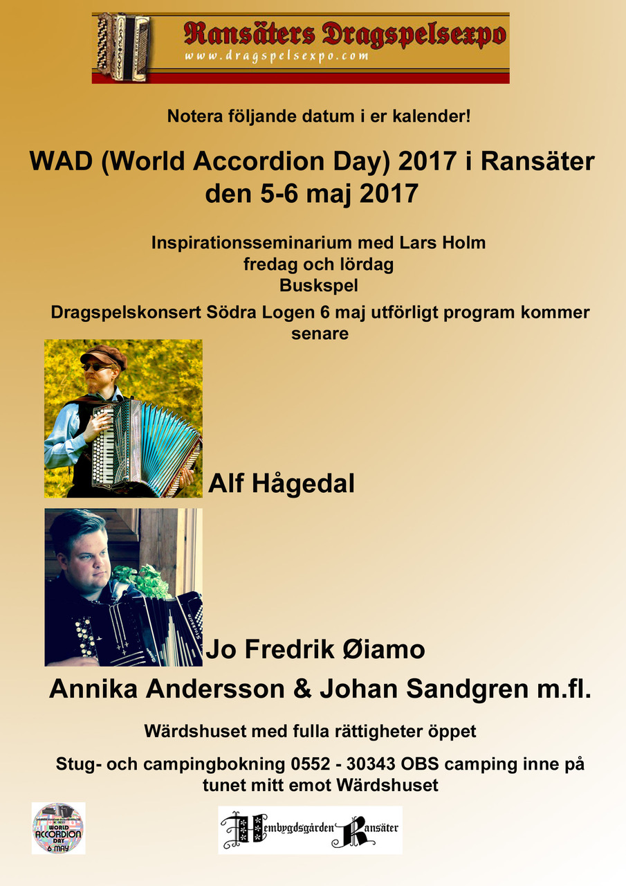 World accordion day affisch